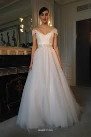 modern lace and tulle cap sleeve v neckline winter wedding dress