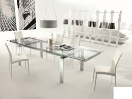 furniture glass extendable dining room tables with grey upholstered chairs amish ikea round table farmhouse