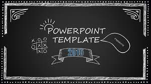 Chalkboard Powerpoint Background Chalkboard Cartoon Style Powerpoint Template Just Free Slides