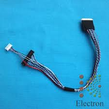 online buy whole lcd screen 40 pin cable from lcd screen double six 40 pins 0 5mm lvds cable fix led lcd screen driver board connected screen