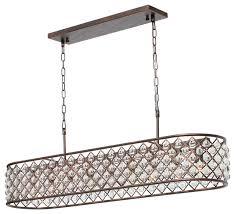 cassiel 40 rectangular crystal drop chandelier oil rubbed bronze