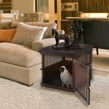 designer dog crate furniture ruffhaus luxury wooden. Dog Crate Furniture Chair Side Wooden Table Designer Ruffhaus Luxury