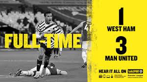 West ham united vs manchester united. Ft West Ham 1 3 Man United Paul Pogba And Rashford Strikes Match Highlight Mysportdab