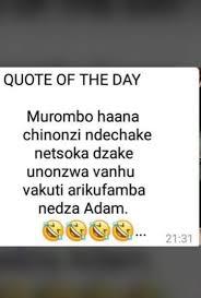 Zimbabwe shona quotes & sayings. Jokes In Shona Facebook