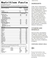nutrition info for honey bunches of oats with real strawberries