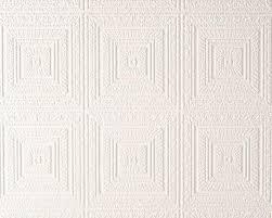 Overschilderbaar Behang Grote Pleinen Geblazen Reliëf Vinyl Wit