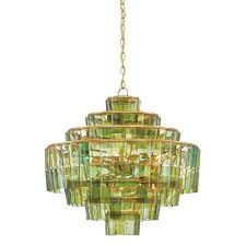 currey company sommelier dark contemporary gold leaf and green eight light chandelier