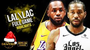 Los Angeles Lakers vs Los Angeles Clippers Full Game Highlights   Christmas  2019