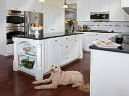 dishy kitchen counter decorating ideas: image of white kitchen cabinets with gray granite countertops