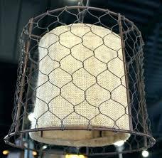 burlap drum chandelier burlap drum shade chandelier medium image for en wire and swag lamp pottery
