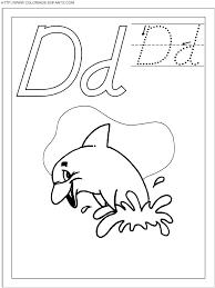 Coloriage Ecriture 1 Lettre D Comme Dauphin Imprimer Et Colorier