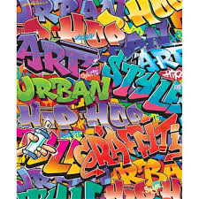 brewster home fashions wt42827 graffiti