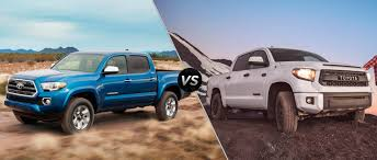 Toyota Tacoma vs 2016 Toyota Tundra