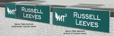 cubicle hangers the clear plastic name plate