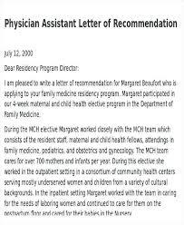 Letter Of Recommendation For Medical Doctor Physician Letter Of Recommendation Threeroses Us