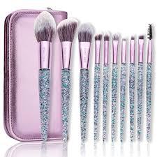 10 piece makeup brush kit with bag makeup brushes set kit