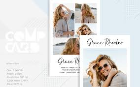 Grace Rhodes - Modeling Comp Card Corporate identity-mall #83263