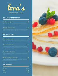 Sample Breakfast Menu Template New Customize 48 Breakfast Menu Templates Online Canva