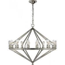 visual comfort rl5197pn ralph lauren archer extra large chandelier in polished nickel