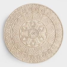 classy design circle wall decor home ideas whitewashed round wood shaila world market sculpture stickers
