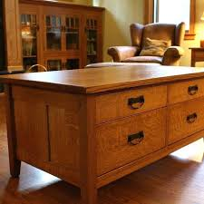 custom mission style coffee table by cabinet canoe legs