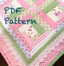 Baby Quilt Patterns Adorable Log Cabin Baby Quilt Pattern Modern Baby Girl Quilt Pattern Etsy