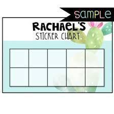 Editable Reward Chart Freebie Tropical Themed Editable Sticker Chart Sample