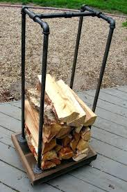 indoor firewood rack fireplace wood rack recycled pallets and some black pipe projects wood rack black