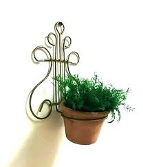 wall mounted flower pot holder wall mounted flower pots wall mounted flower pot holder lyre wire flower pot holder wall mount