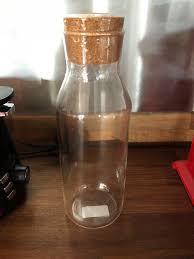 ikea kitchen storage jar glass with cork lid new sealed