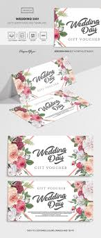 Gift Voucher Template Wedding Day Premium Gift Certificate Template In Psd