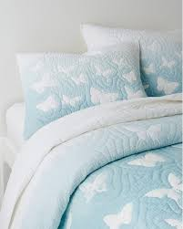 blue cotton quilt. Beautiful Blue Ombr Butterfly OrganicCotton Quilt In Blue Cotton L