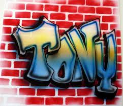 airbrush brick wall graffiti 90 s t