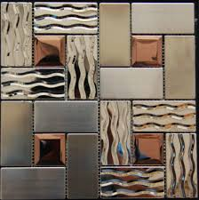 stainless steel tile backsplash kitchen mosaic glass wall metal tiles free mosaics white stick copper