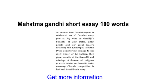 mahatma gandhi short essay words google docs