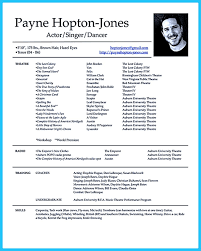 Actor Resume Template Free Actor Resume Template Gives You More Options On How To Write Your 18