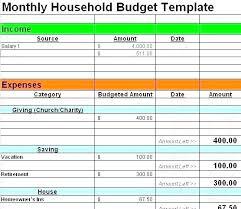 Monthly Household Expense Form Household Bills Spreadsheet Household Bills Budget Template