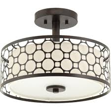 progress lighting mingle collection 17 watt antique bronze integrated led semi flush mount light