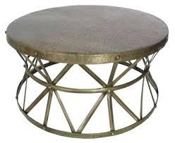 metal drum coffee table interior spaces large metal drum coffee table hammered metal drum coffee table