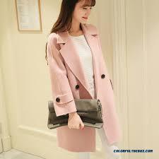 2016 slim style winter women s woolen coats pink medium style warm young