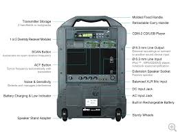 Mipro Act 707 Frequency Chart Mipro Products Ma 707 Portable Wireless Pa System