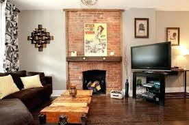 exposed brick fireplace view in gallery exposed brick above fireplace