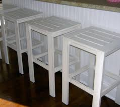 image of white outdoor bar stool