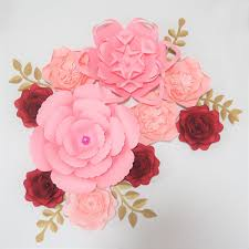 Diy Giant Paper Rose Flower 2019 Diy Giant Paper Flowers Wedding Backdrop Half Made Flowers Kits Party Bridal Shower Baby Nursery With Video Tutorial From Diyunicornflowers