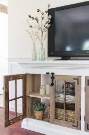 how to build a diy tv console cabinet brilliant project homedecorideas