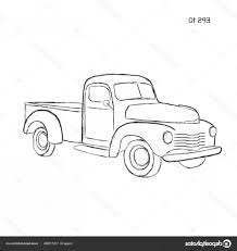 Stock Illustration Old Retro Farmer Pickup Truck | SHOPATCLOTH