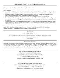 Free Elementary School Principal Resume Example throughout Elementary  School Principal Resume