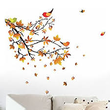 Small Picture Buy Decals Design Autumn Leaves and Birds Wall Sticker PVC