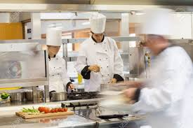 busy restaurant kitchen. Busy Chefs At Work In The Restaurant Kitchen Stock Photo - 20517056 S