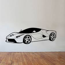 car style wall stickers boys bedroom wall decor vinyl removable kids wallstickers for children room decoration